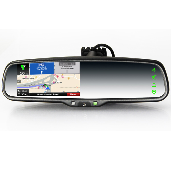 Rear View Mirror Monitor With Bluetooth And Navigation Spot Dem